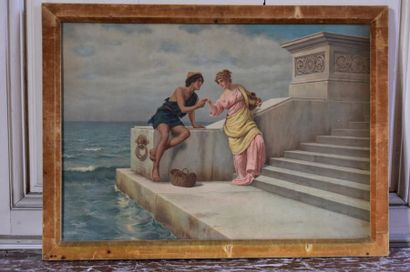 Pietro GABRINI (1856-1926) Scène à l'Antique,...