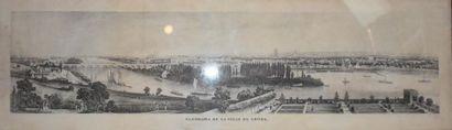 Panorama de la ville de Tours, 1835 Lithographie....