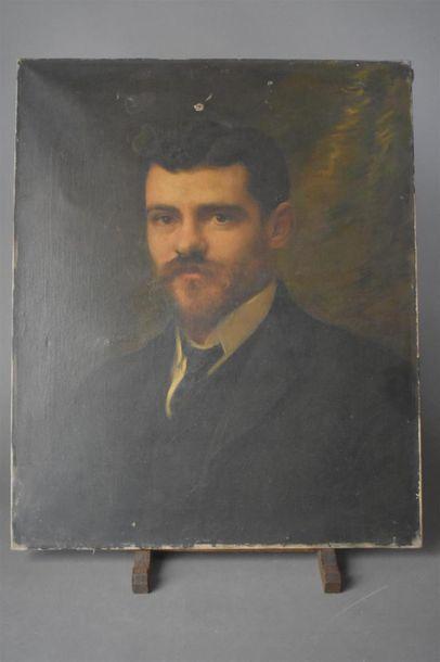 Henri Pierre JAMET (1858-1921) Portrait d'homme...