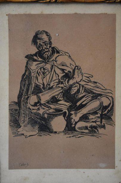 Jacques Callot (1592-1635) Un mendiant Eau-forte....