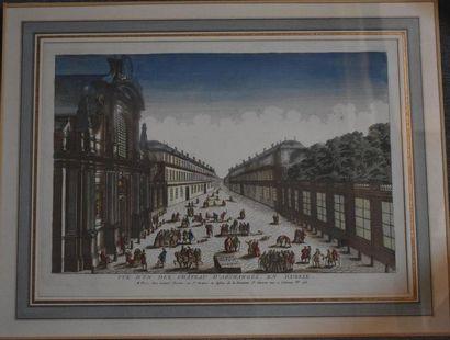 Gravure en couleurs du XVIIIe siècle Représentant...
