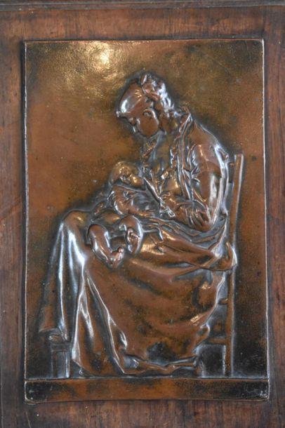 Félix CHARPENTIER (1858-1924) Bronze high relief. 25.5 x 17 cm