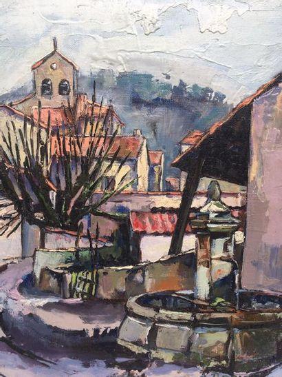Roland Gérard SADAUNE (1940) Vue d'un village...