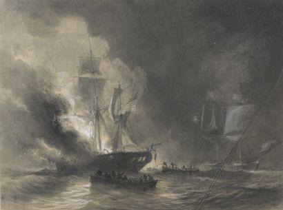 Antoine Léon MOREL FATIO (1810-1871)  Bataille...