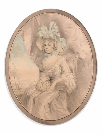 John DOWMAN (1750-1824)  Portrait de Lady...