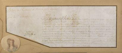 MARIE ANTOINETTE vienne 1755-paris1793  Pièce...
