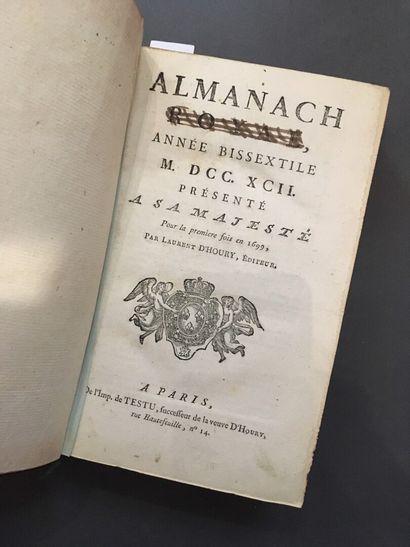 [ALMANACH ROYAL]. Almanach royal, année bissextile...