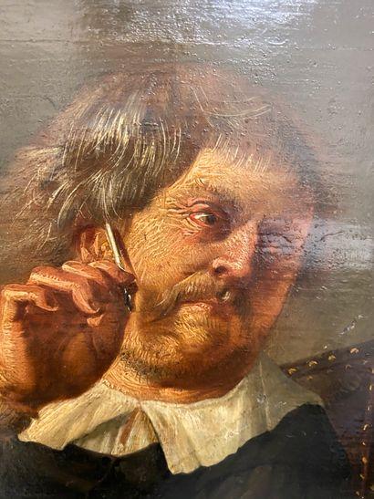 École HOLLANDAISE vers 1640  Un écrivain...