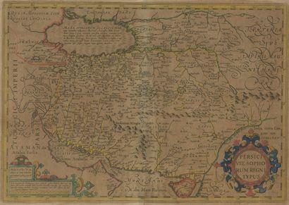 Carte de la Perse 46,5 x 55 cm