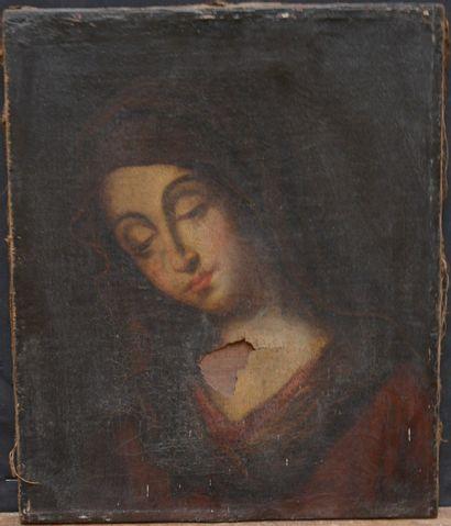 École FRANÇAISE du XVIIe siècle  Vierge en...