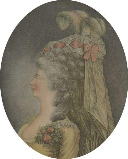 D'après COUTELIER  Portrait de mademoiselle...