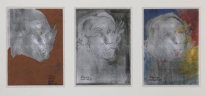 Ladislas KIJNO (1921-2012)  Têtes  Suite...