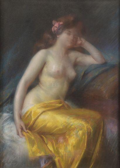 Delphin ENJOLRAS (1857-1945)  Femme assise...