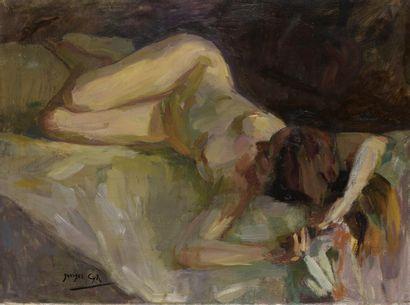 Georges Albert CYR (1880-1964)  Femme nue...