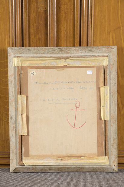 Pierre Philippe BERTRAND (1884-1975),  peintre de la Marine  Au bout du Richelieu...