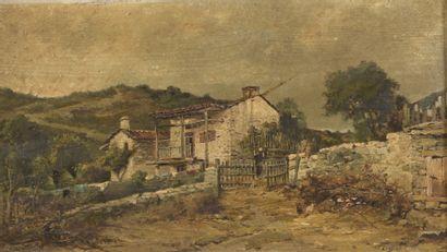 Henri LANGEROCK (1830-1915)  Paysage  Huile...