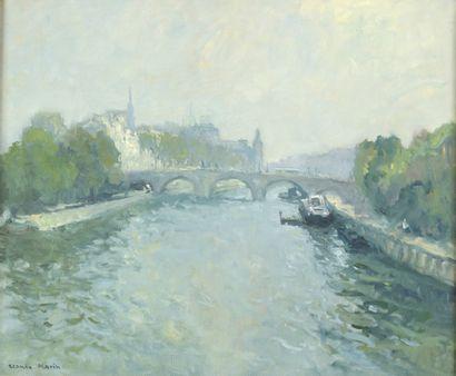 Claude MARIN (1914- 2001)  La Seine et le...