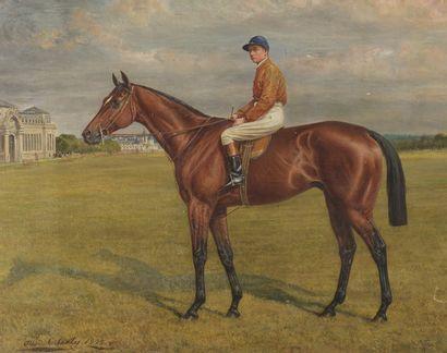Allen Culpepper SEALY (1850-1927)  Ajax monté par George Stern à Chantilly  Huile...