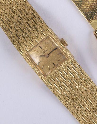 OMEGA. Montre bracelet de dame en or jaune...