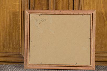 Gaston DOMERGUE (1885-1927)  Seaside  Oil on canvas mounted on cardboard signed...