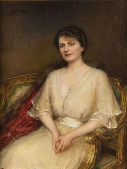 Albert LYNCH (1851-1912)  Portrait de femme...