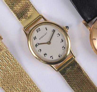 BREGUET - Montre bracelet en or jaune avec...