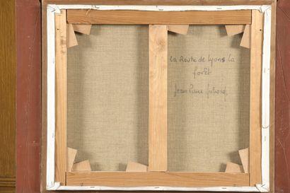 Jean-Pierre DUBORD (né en 1949)  La route de Lyons la Forêt  Toile signée en bas...