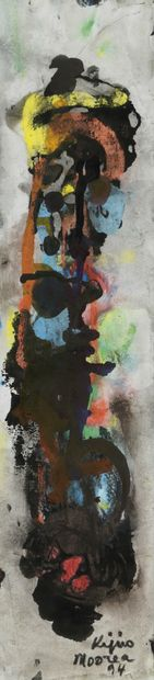 Ladislas KIJNO (1921-2012)  Sans titre  Gouache....