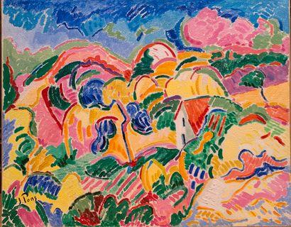 Jacques PONS (né en 1936)  Collines en Provence...