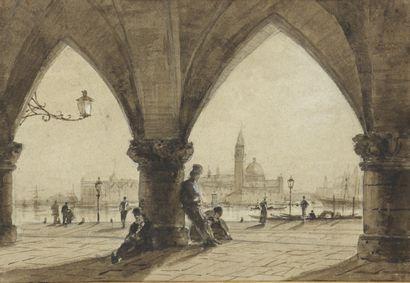 Attribué à Alexei Petrovich BOGOLJUBOFF (1824-1896)...
