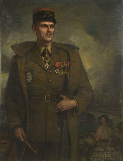 Federico BELTRAN-MASSES (1885-1949)  Portraits du Colonnel Jean Teissier de Marguerittes...