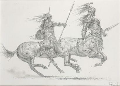 Adrian SMITH (né en 1969)  Les Centaures...