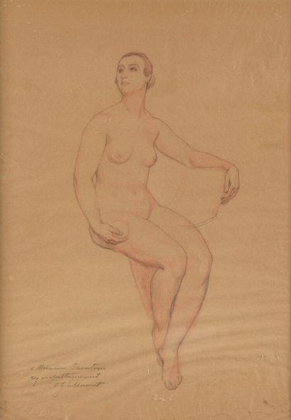 Octave GUILLONNET (1872-1967)  Etude de femme...