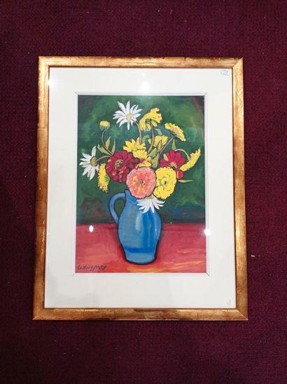 Gaston KUYPERS (1903-1997)  Bouquet de fleurs...