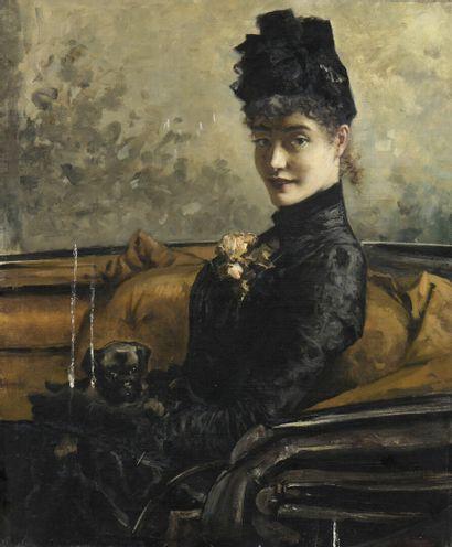 Gustav WERTHEIMER (1847-1904)  Elégante assise...