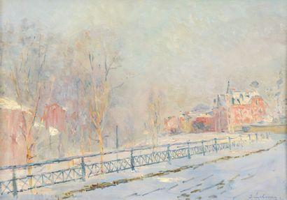 Albert LEBOURG (1849-1928)  La rampe Saint-Hilaire,...