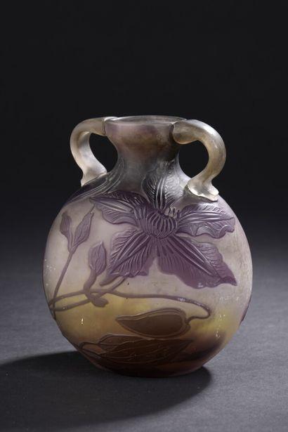Émile GALLÉ (établissements)  Vase gourde....