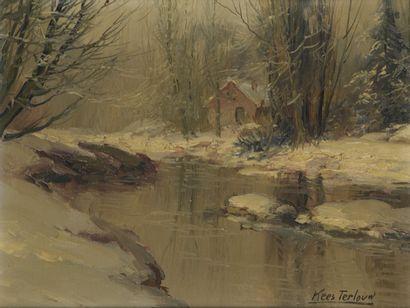 Kees TERLOUW (1890-1948)  Paysage de neige...