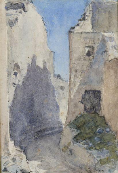 Arthur MAYEUR (1871-1934)  Les Baux, voie...