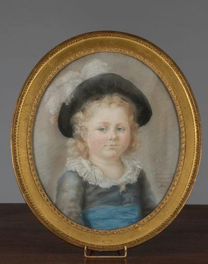 Adélaïde LOOS, école FRANÇAISE vers 1780...
