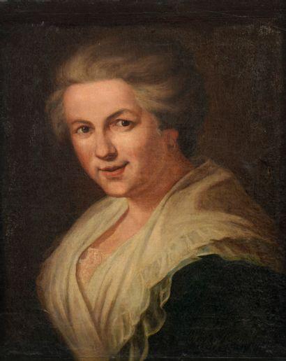 École FRANÇAISE vers 1780  Portrait de femme...