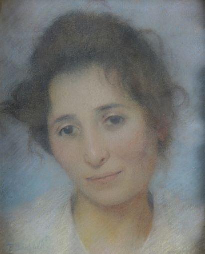 École FRANCAISE du début du XXe siècle  Portrait...
