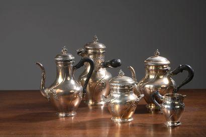 Service à thé et à caf é en argent, poinçon...