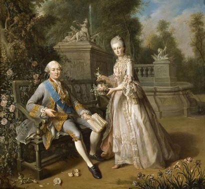 Chaise en bois mouluré et sculpté estampillée G. Jacob livré pour le cabinet du...