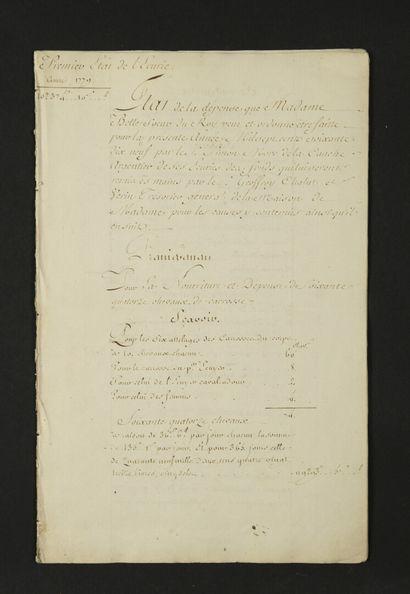 MARIE-JOSÉPHINE-LOUISE de Savoie (1753-1810)...