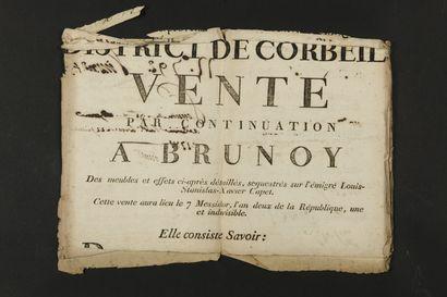 LOUIS XVIII (1755-1824) Roi de France.  4...