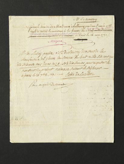MESDAMES, filles de Louis XV. 2 L.A. et 1...