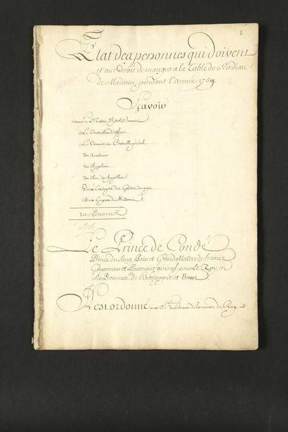 [Madame ADÉLAIDE DE FRANCE (1732-1800) fille...