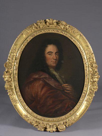 École FRANCAISE vers 1700  Portrait de dame...