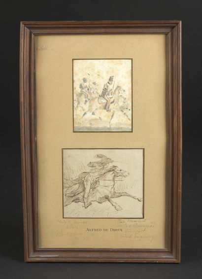 Attribué à Alfred de DREUX (1810-1860)  Deux...